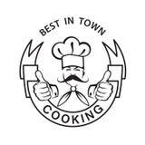 Icono Mustachioed del cocinero Imagen de archivo libre de regalías