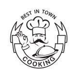 Icono Mustachioed del cocinero Foto de archivo libre de regalías