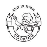 Icono Mustachioed del cocinero Fotografía de archivo