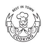 Icono Mustachioed del cocinero Fotos de archivo libres de regalías