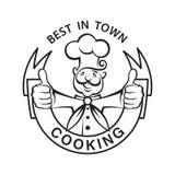 Icono Mustachioed del cocinero Imagenes de archivo