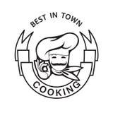 Icono Mustachioed del cocinero Foto de archivo