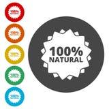 icono natural del 100% stock de ilustración