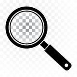 Icono negro de la lupa en fondo transparente Vector ilustración del vector