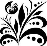 Icono negro de la planta Logotipo orgánico del vector Fotos de archivo libres de regalías