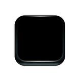 Icono negro de la tecnología aislado en blanco ilustración del vector