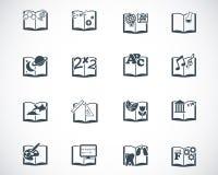 Icono negro de los libros escolares del vector Imágenes de archivo libres de regalías