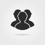 Icono negro de los seguidores con la sombra Imagen de archivo libre de regalías