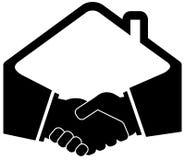Icono negro del apretón de manos ilustración del vector