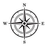 Icono negro del compás Ilustración del vector libre illustration
