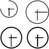 Icono negro del reloj - sistema Fotografía de archivo