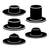 Icono negro del sombrero Fotos de archivo libres de regalías
