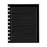 Icono negro del trozo de papel de la silueta ilustración del vector