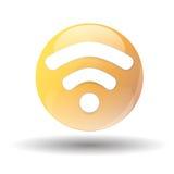 Icono negro del wifi en un fondo blanco Fotografía de archivo libre de regalías