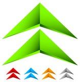 Icono nervioso agudo de la flecha 3d en más color con efecto biselado libre illustration