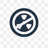 Icono nuclear del vector aislado en el fondo transparente, nuclear ilustración del vector