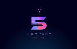 icono numérico del logotipo del dígito púrpura magenta rosado del número 5 cinco libre illustration