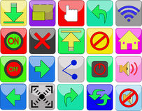 Icono o botón en un sitio web Imagen de archivo libre de regalías