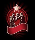 Icono o emblema del boxeo Imagenes de archivo