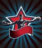 Icono o emblema del campeón del boxeo Fotos de archivo