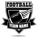Icono o escudo de la insignia del fútbol americano Imagen de archivo