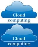 Icono o logotipo computacional de la nube Fotografía de archivo