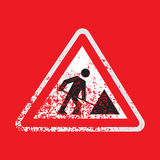 Icono o logotipo de la obra vial Fotos de archivo libres de regalías