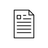 Icono o logotipo superior de documento en la línea estilo Imagen de archivo libre de regalías