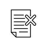 Icono o logotipo superior de documento en la línea estilo Foto de archivo libre de regalías