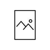 Icono o logotipo superior de documento en la línea estilo Fotos de archivo libres de regalías