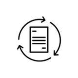 Icono o logotipo superior de documento en la línea estilo Foto de archivo