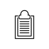 Icono o logotipo superior de documento en la línea estilo Imagen de archivo