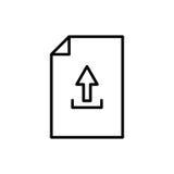Icono o logotipo superior de documento en la línea estilo Imagenes de archivo