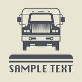 Icono o muestra del camión Imagen de archivo libre de regalías