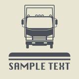 Icono o muestra del camión Fotografía de archivo libre de regalías