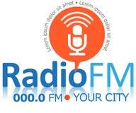 Icono o símbolo de FM de la radio Imágenes de archivo libres de regalías