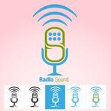 Icono o símbolo de radio de los sonidos Fotografía de archivo