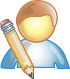 Icono o símbolo del autor Foto de archivo libre de regalías