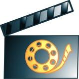 Icono o símbolo del clacker de la película Fotografía de archivo libre de regalías