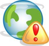 Icono o símbolo del error del Web Foto de archivo libre de regalías