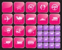 Icono o vector del botón set2 Foto de archivo libre de regalías