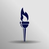 Icono olímpico de la antorcha Imágenes de archivo libres de regalías
