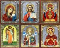 Icono ortodoxo antiguo foto de archivo