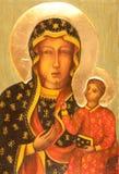 Icono ortodoxo - czestochowska del boska del matka Fotografía de archivo