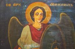 Icono ortodoxo eslavo de San Miguel Fotografía de archivo
