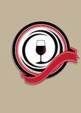 Icono para el vino de calidad Imágenes de archivo libres de regalías