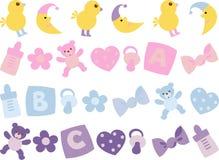 Icono para los recién nacidos stock de ilustración