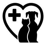 Icono para los servicios veterinarios stock de ilustración