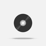 Icono plano CD del disco compacto con la sombra Imagen de archivo