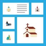 Icono plano Christian Set Of Religious, religión, Christian And Other Vector Objects También incluye la iglesia, fe Fotografía de archivo